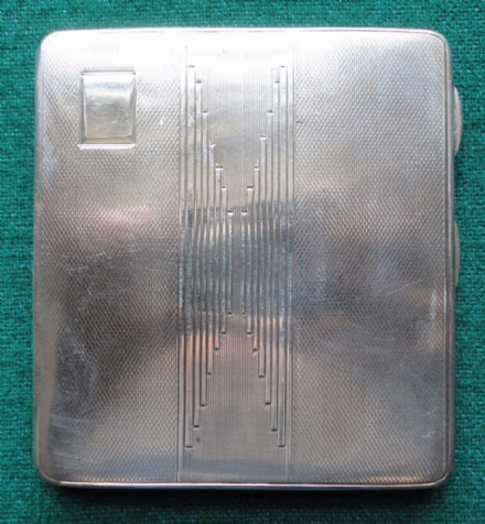 Khan of Kalat Royal Silver Presentation Cigarette Case Gloster Birmingham 1933